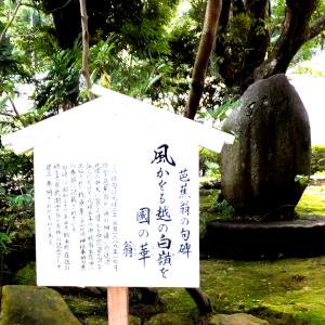 白山比咩神社の芭蕉句碑